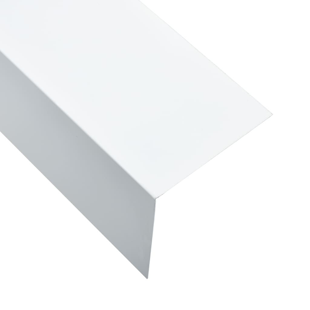 vidaXL Profile de colț în L 90° 5 buc. alb 170 cm 100x100 mm aluminiu poza vidaxl.ro