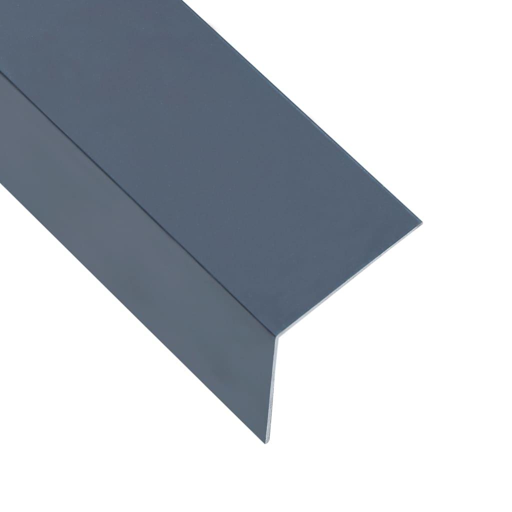 vidaXL Profile colț în L 90° 5 buc. antracit 170 cm 30x30 mm aluminiu poza vidaxl.ro