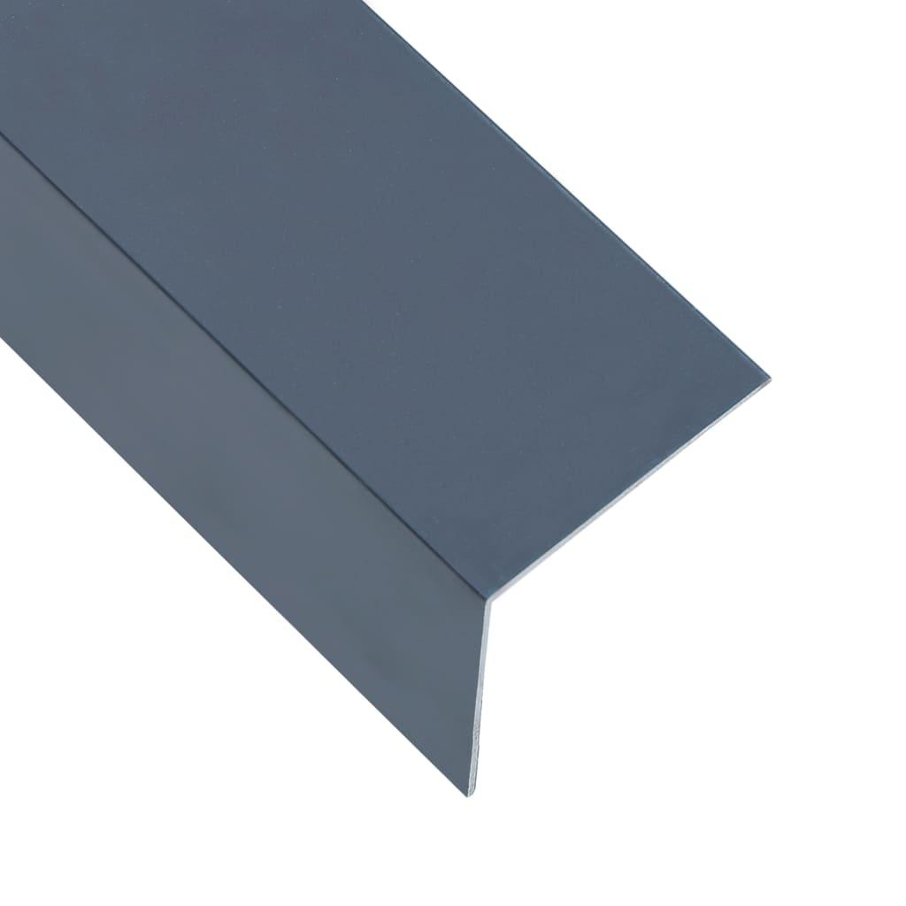 vidaXL Profile colț în L 90° 5 buc. antracit 170 cm 60x40 mm aluminiu poza vidaxl.ro