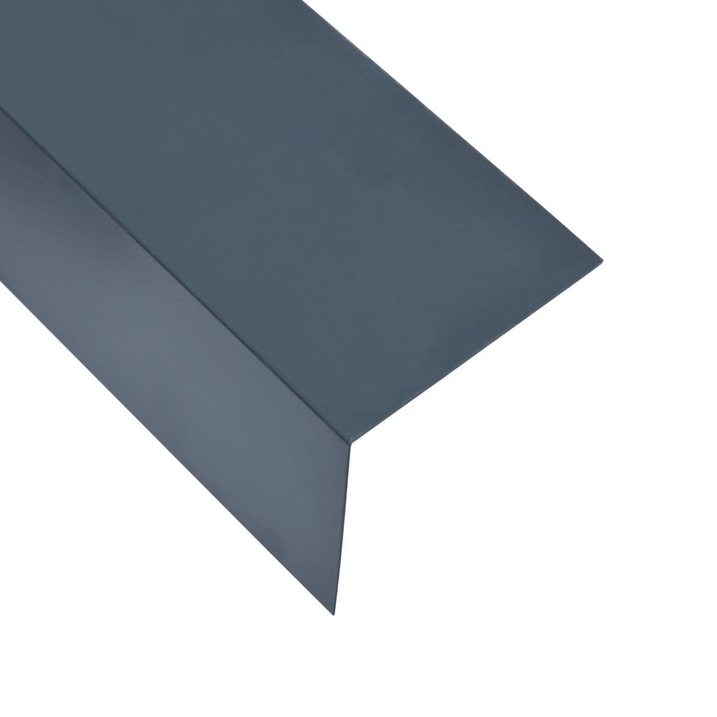 vidaXL Profile colț în L 90° 5 buc antracit 170 cm 100x100 mm aluminiu poza vidaxl.ro