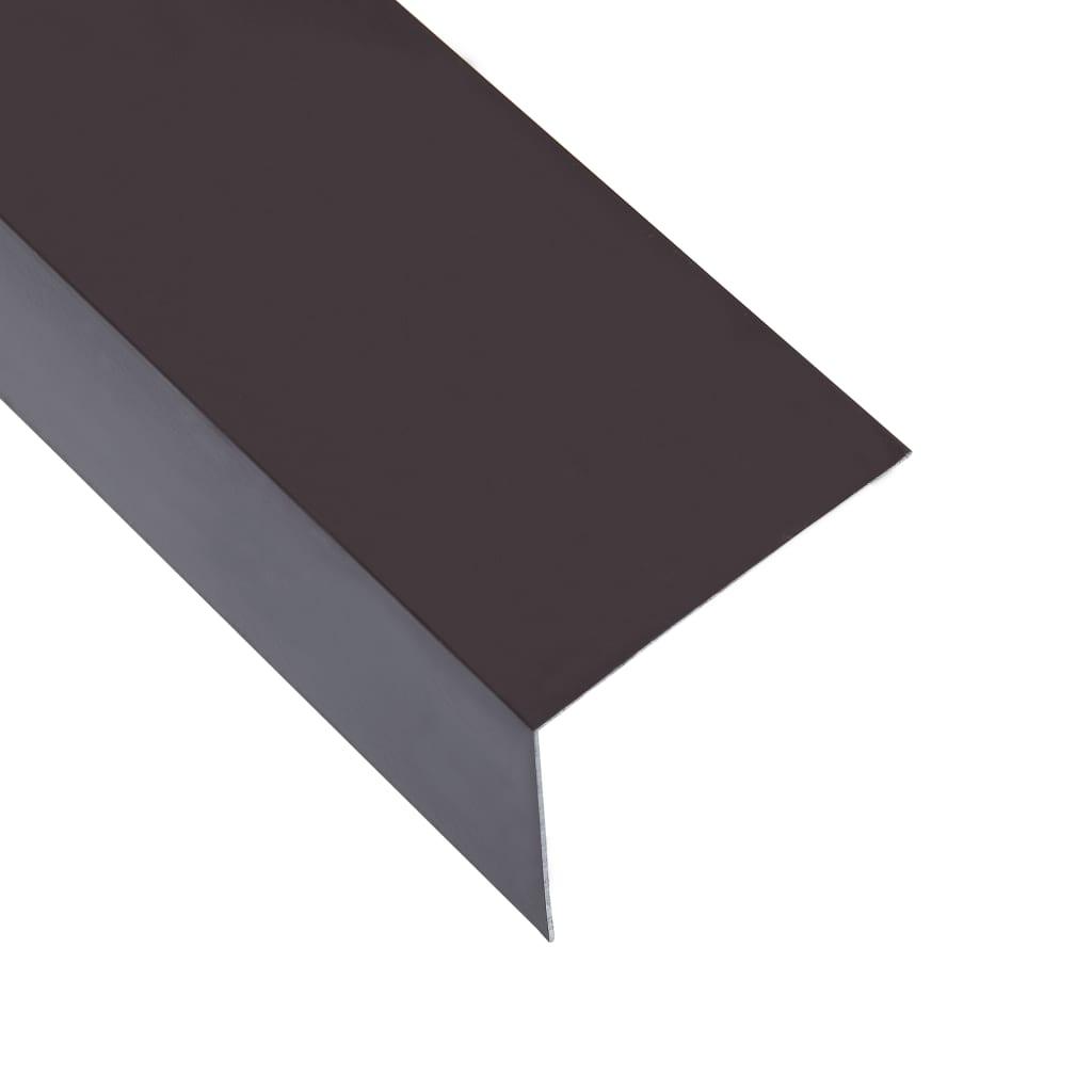 vidaXL Profile de colț în L 90° 5 buc. maro 170 cm 30x30 mm aluminiu vidaxl.ro