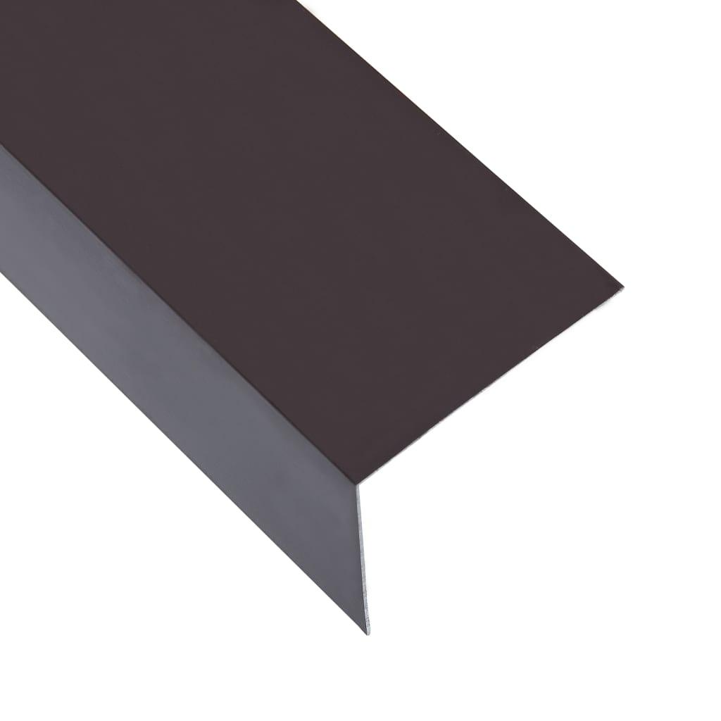 vidaXL Profile de colț în L 90° 5 buc. maro 170 cm 50x50 mm aluminiu imagine vidaxl.ro