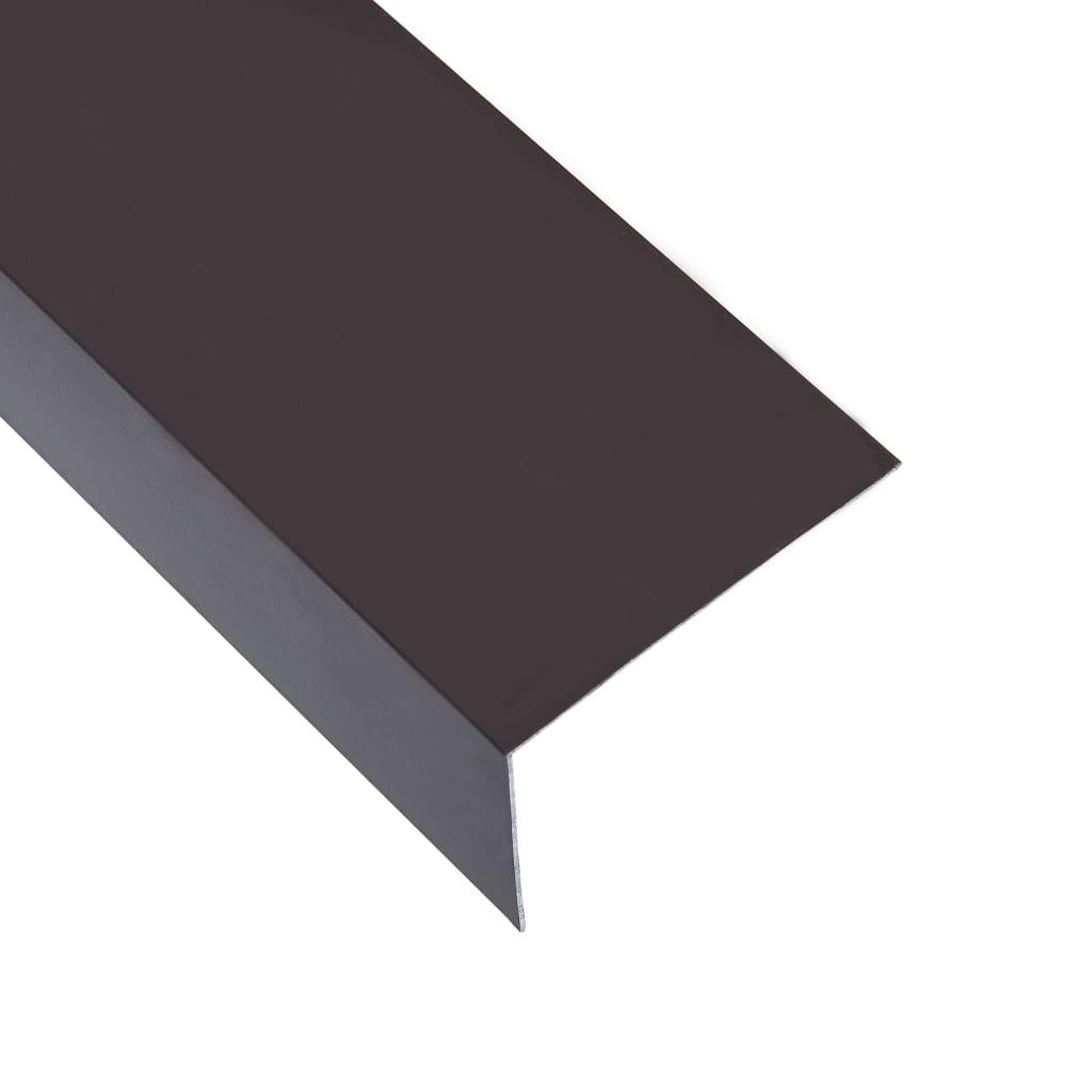 vidaXL Profile de colț în L 90° 5 buc. maro 170 cm 60x40 mm aluminiu poza vidaxl.ro