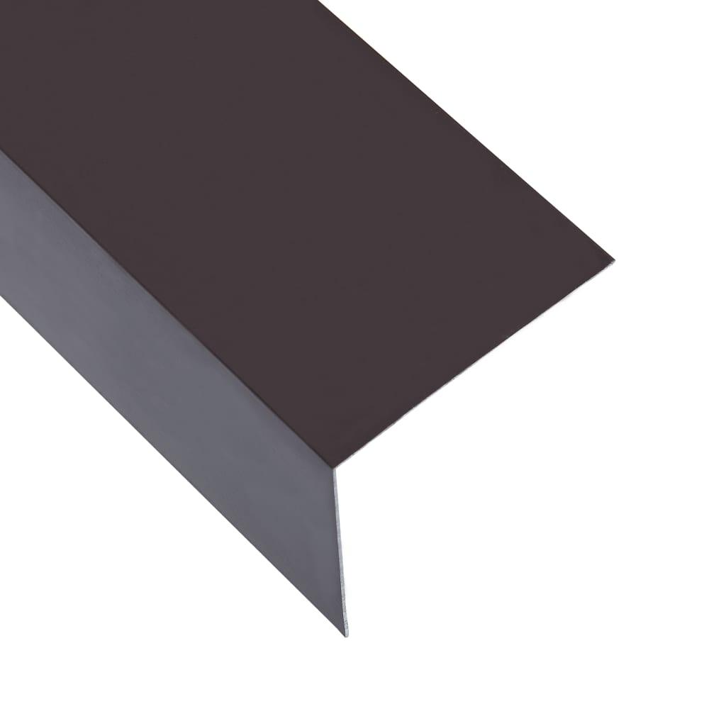 vidaXL Profile de colț în L 90° 5 buc maro 170 cm 100x100 mm aluminiu poza vidaxl.ro