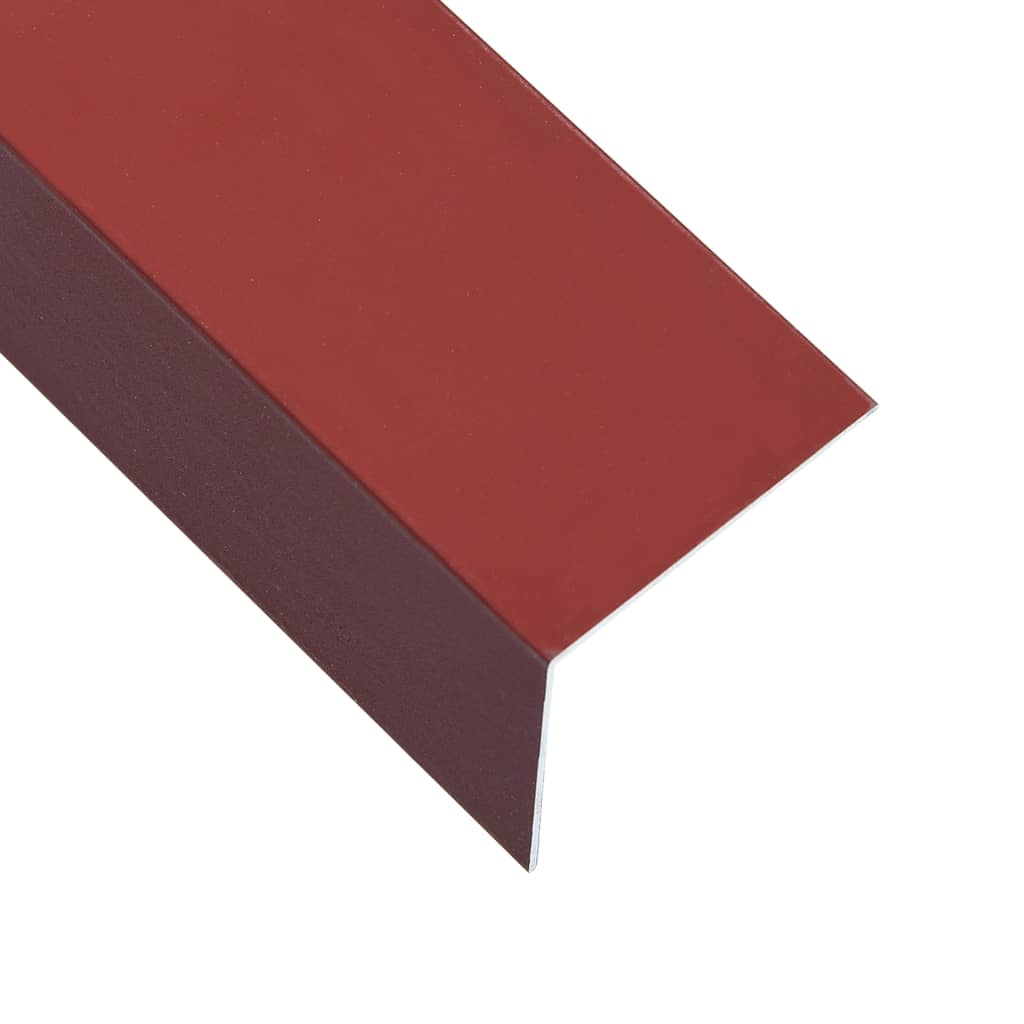 vidaXL Úhlové lišty ve tvaru L 90° 5 ks hliník červené 170 cm 60x40 mm