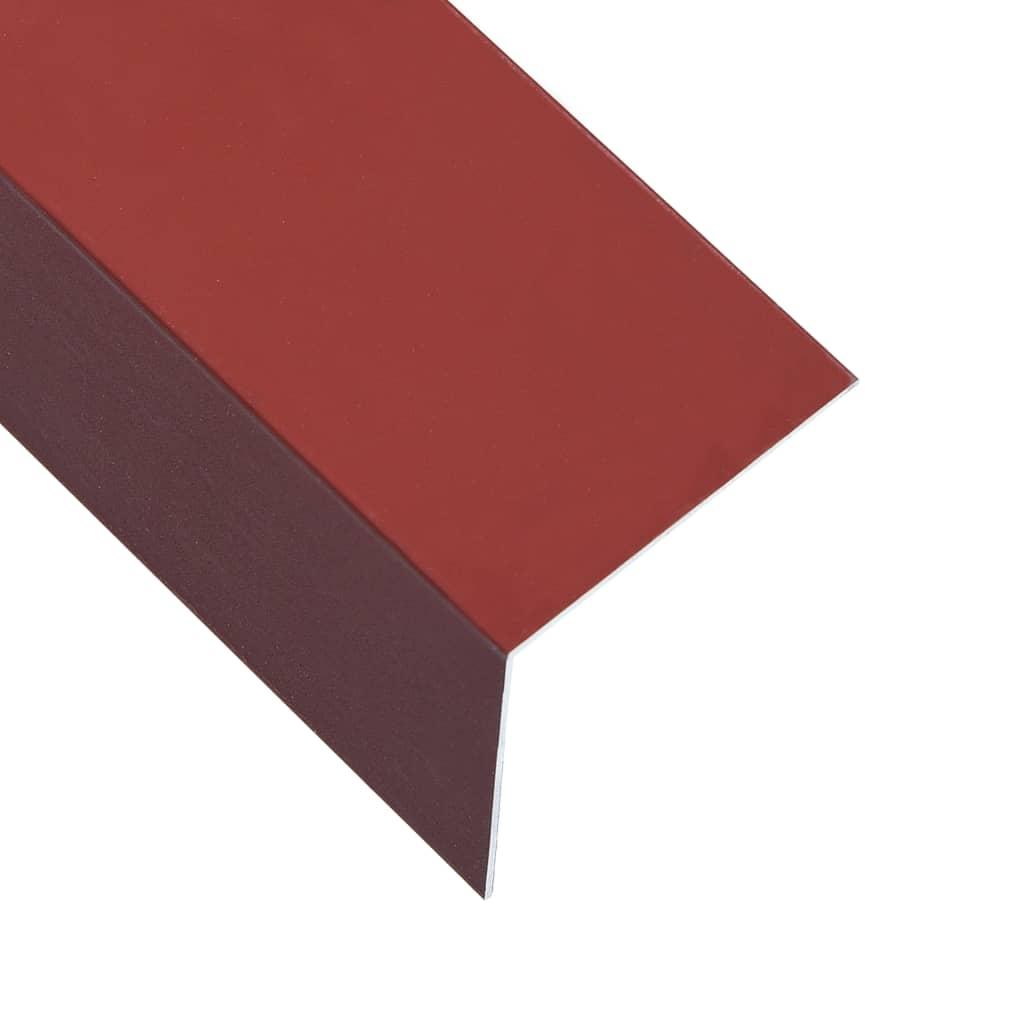 Úhlové lišty ve tvaru L 90° 5 ks hliník červené 170cm 100x100mm