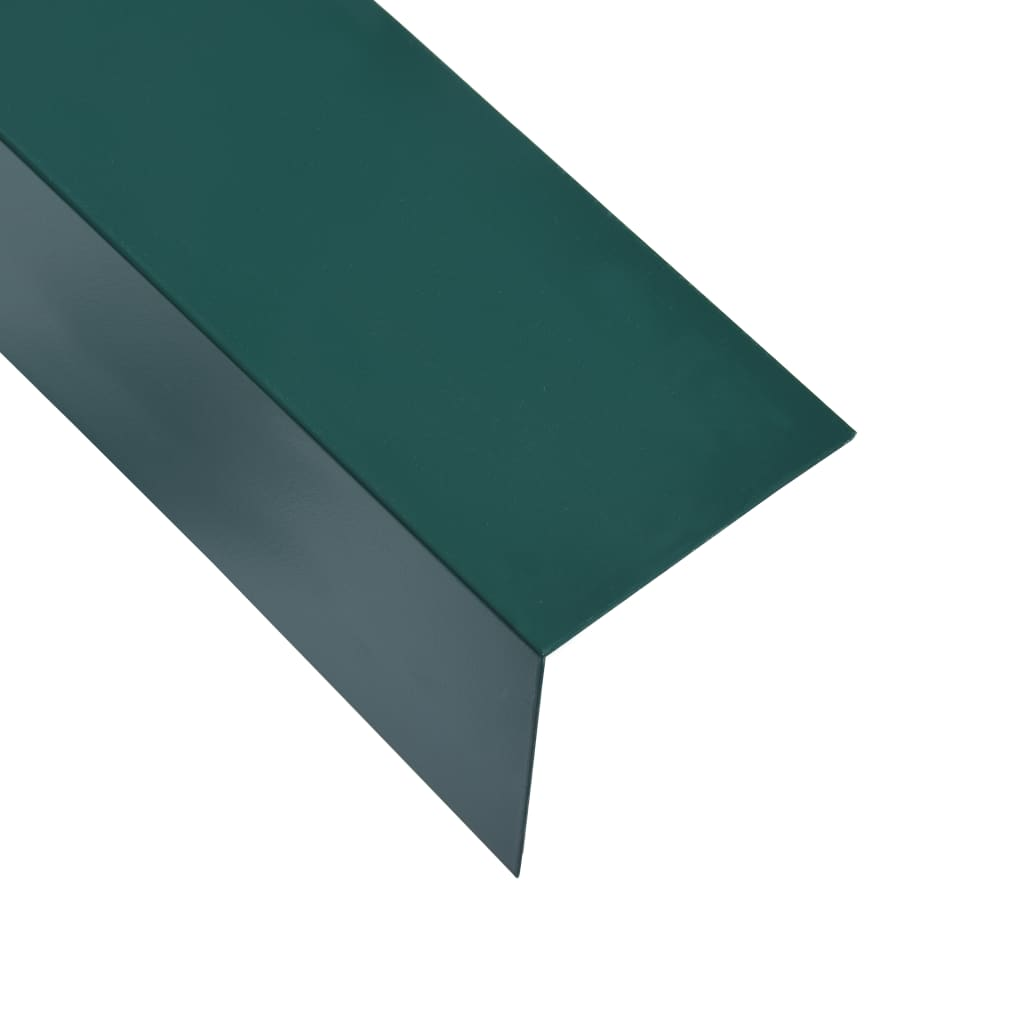 vidaXL Úhlové lišty ve tvaru L 90° 5 ks hliník zelené 170 cm 30x30 mm