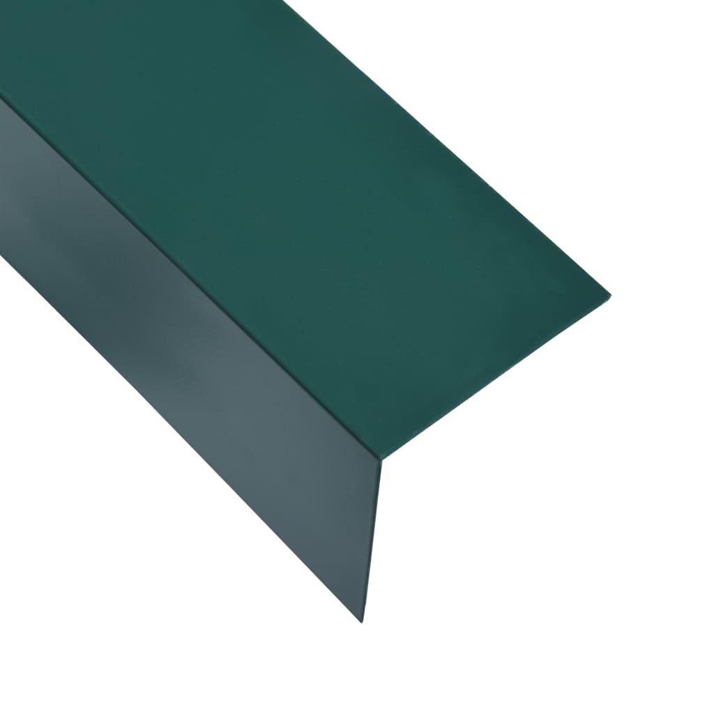 Úhlové lišty ve tvaru L 90° 5 ks hliník zelené 170 cm 50x50 mm