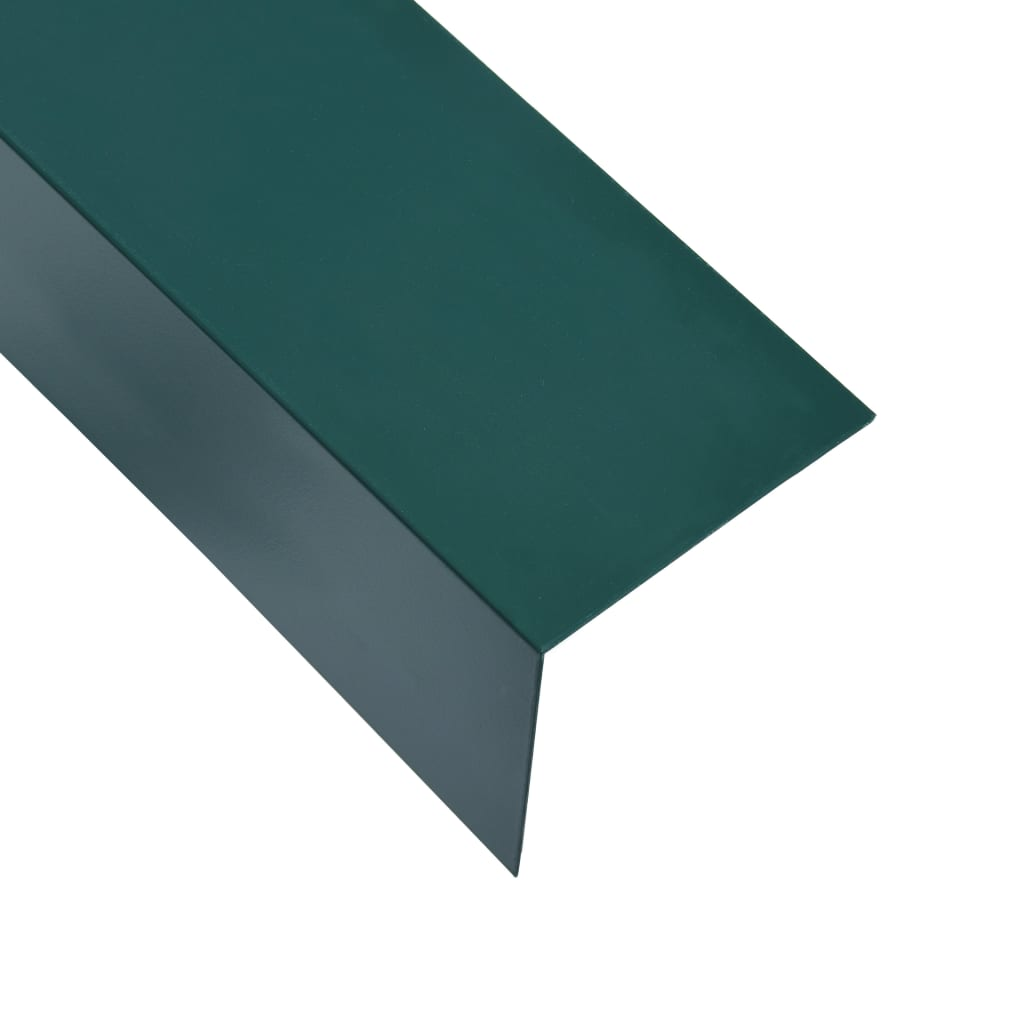 vidaXL Úhlové lišty ve tvaru L 90° 5 ks hliník zelené 170 cm 60x40 mm