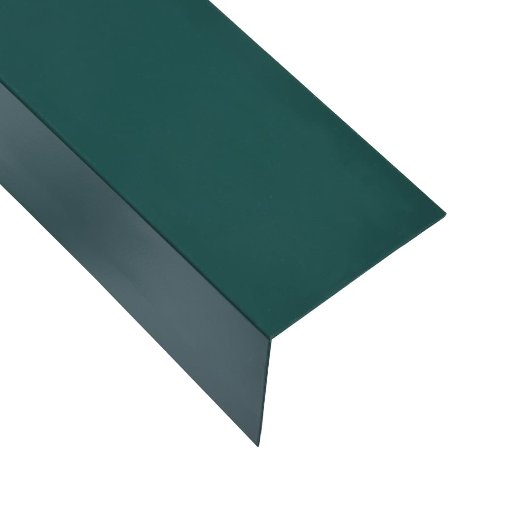 Úhlové lišty ve tvaru L 90° 5 ks hliník zelené 170 cm 100x50 mm