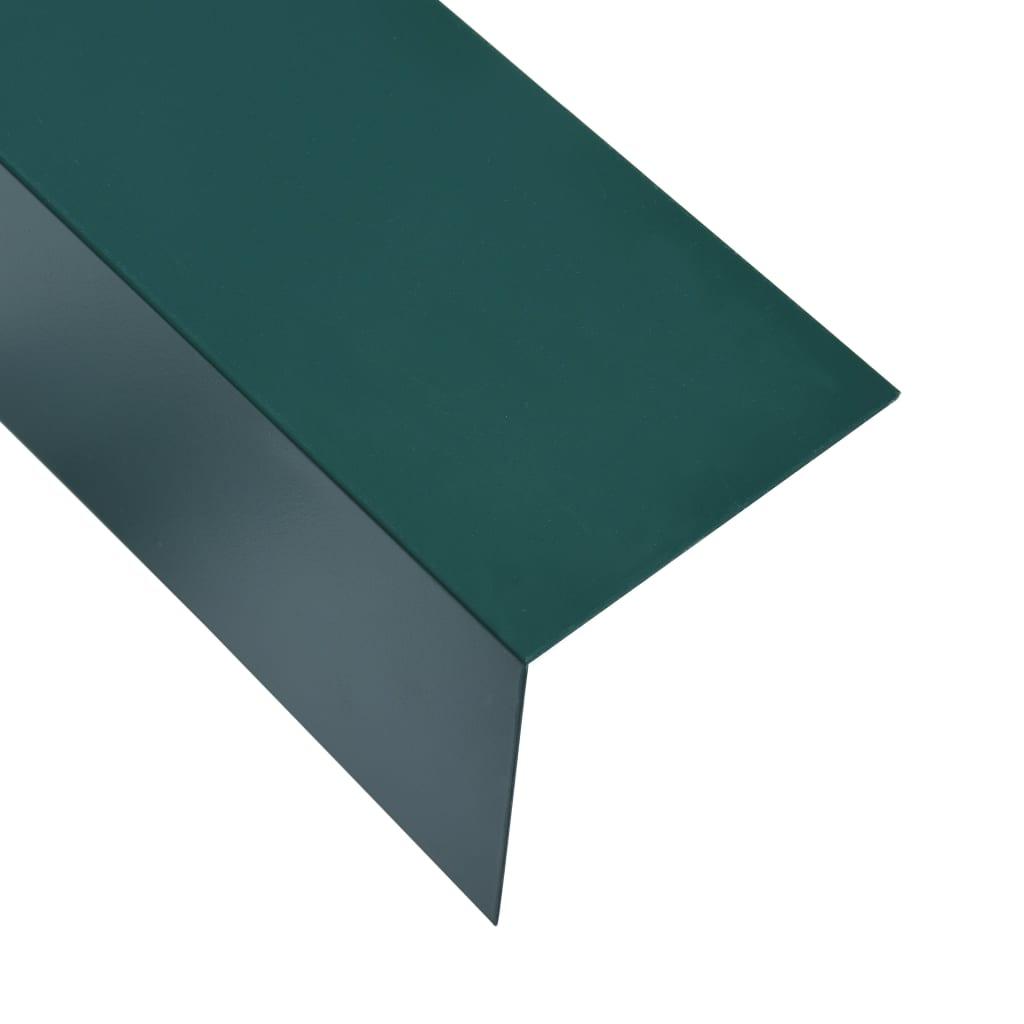 Úhlové lišty ve tvaru L 90° 5 ks hliník zelené 170 cm 100x100mm