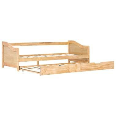 vidaXL Bedbankframe uittrekbaar grenenhout 90x200 cm[2/8]