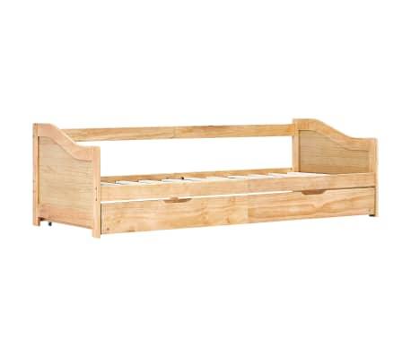 vidaXL Bedbankframe uittrekbaar grenenhout 90x200 cm[3/8]