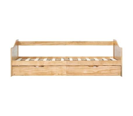 vidaXL Bedbankframe uittrekbaar grenenhout 90x200 cm[4/8]