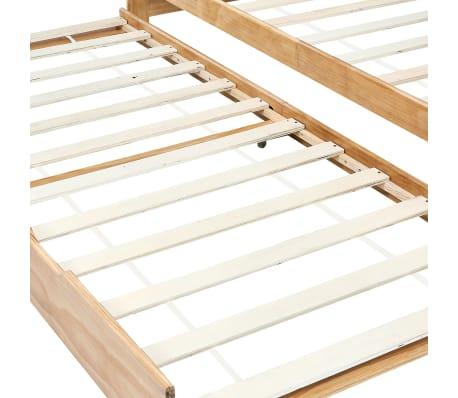 vidaXL Bedbankframe uittrekbaar grenenhout 90x200 cm[5/8]