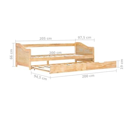 vidaXL Bedbankframe uittrekbaar grenenhout 90x200 cm[8/8]