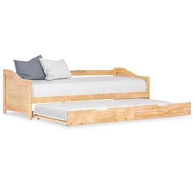 vidaXL Bedbankframe uittrekbaar grenenhout 90x200 cm[1/8]