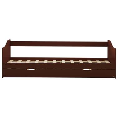 vidaXL Bedbankframe uittrekbaar grenenhout donkerbruin 90x200 cm[3/8]