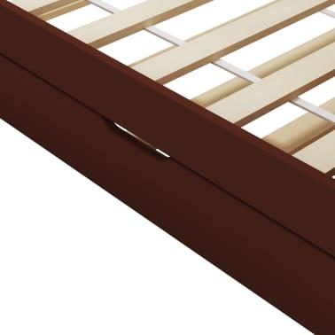vidaXL Bedbankframe uittrekbaar grenenhout donkerbruin 90x200 cm[7/8]