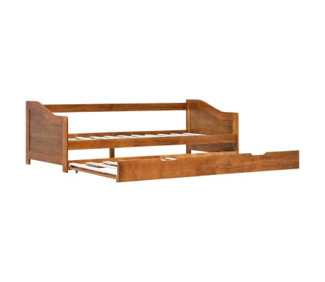 vidaXL Pull-out Sofa Bed Frame Honey Brown Pinewood 90x200 cm
