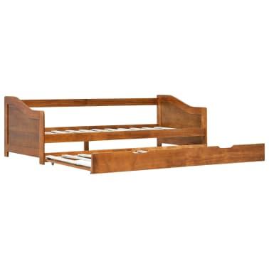 vidaXL Bedbankframe uittrekbaar grenenhout honingbruin 90x200 cm[2/8]