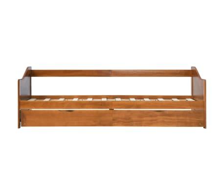 vidaXL Bedbankframe uittrekbaar grenenhout honingbruin 90x200 cm[4/8]