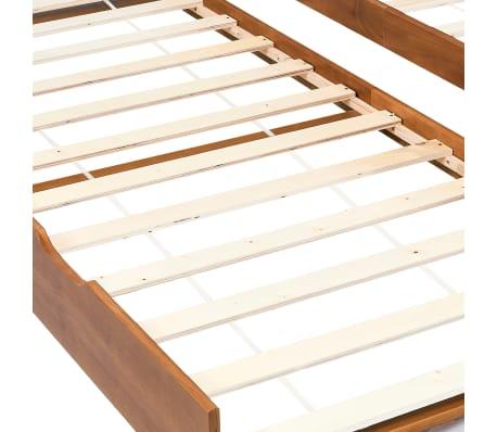 vidaXL Bedbankframe uittrekbaar grenenhout honingbruin 90x200 cm[5/8]