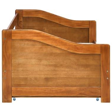 vidaXL Bedbankframe uittrekbaar grenenhout honingbruin 90x200 cm[6/8]
