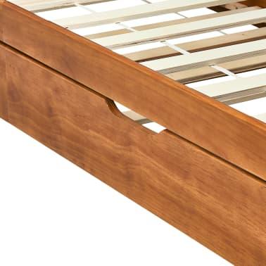 vidaXL Bedbankframe uittrekbaar grenenhout honingbruin 90x200 cm[7/8]