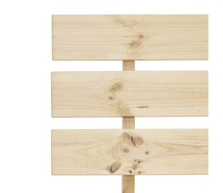 vidaXL Cadre de lit Bois de pin massif 100 x 200 cm[6/7]