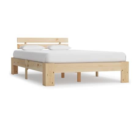 vidaXL Estructura de cama de madera maciza de pino 120x200 cm