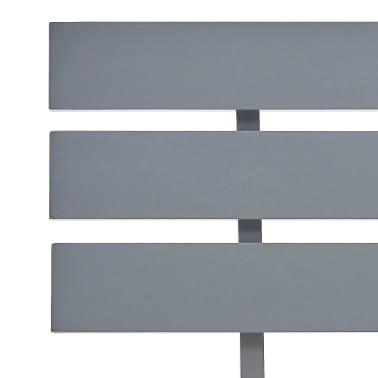 vidaXL Cadre de lit Gris Bois de pin massif 140 x 200 cm[5/7]