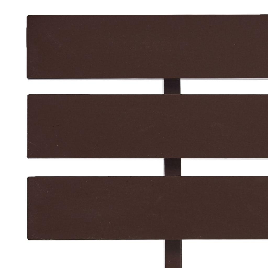 Bedframe massief grenenhout donkerbruin 100x200 cm