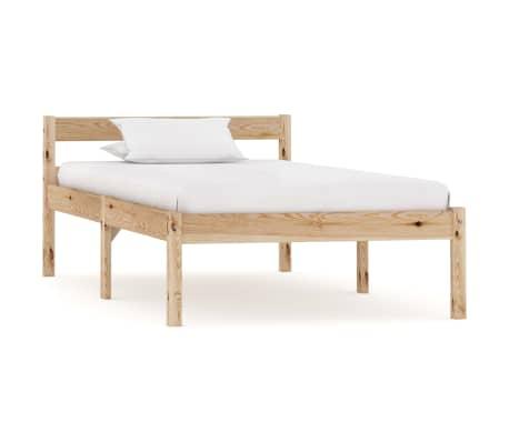 vidaXL Cadru de pat, 90 x 200 cm, lemn masiv de pin[1/7]