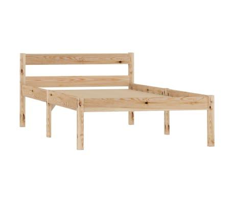 vidaXL Cadru de pat, 90 x 200 cm, lemn masiv de pin[2/7]