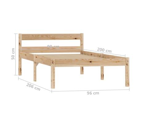 vidaXL Cadru de pat, 90 x 200 cm, lemn masiv de pin[7/7]