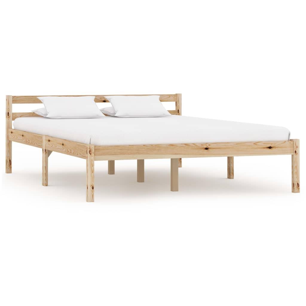 vidaXL Bedframe massief grenenhout 120x200 cm