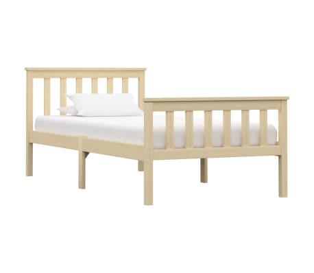 vidaXL Estructura de cama de madera maciza de pino clara 90x200 cm