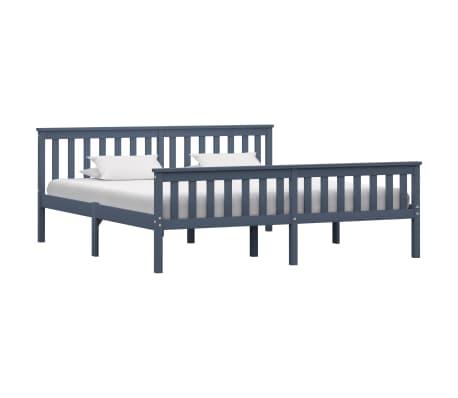 vidaXL Cadru de pat, gri, 180 x 200 cm, lemn masiv de pin