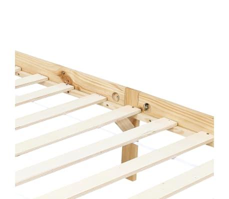 vidaXL Lovos rėmas su baldakimu, 160x200cm, pušies medienos masyvas[6/7]