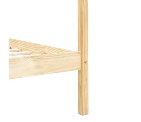 vidaXL Lovos rėmas su baldakimu, 160x200cm, pušies medienos masyvas[7/7]