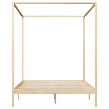 vidaXL Lovos rėmas su baldakimu, 160x200cm, pušies medienos masyvas[5/7]