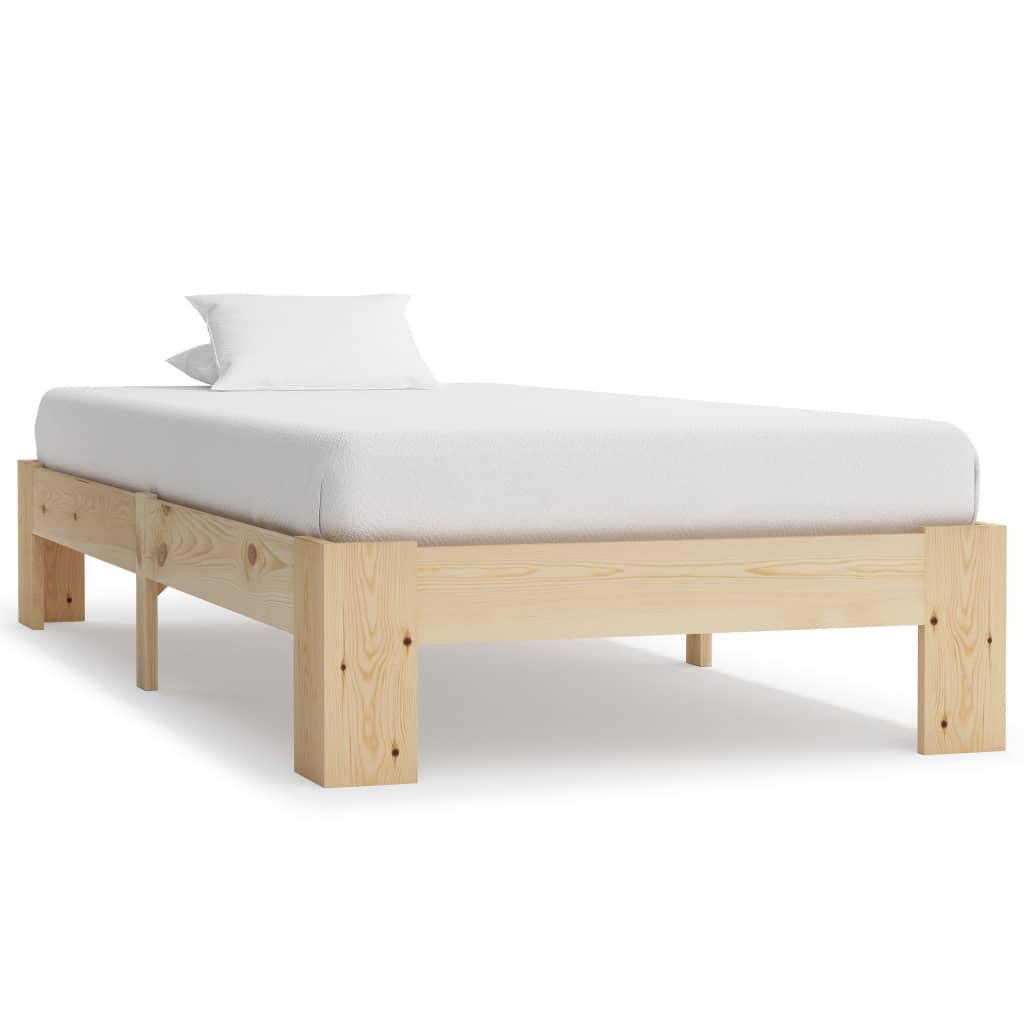 Rám postele masivní borové dřevo 90 x 200 cm