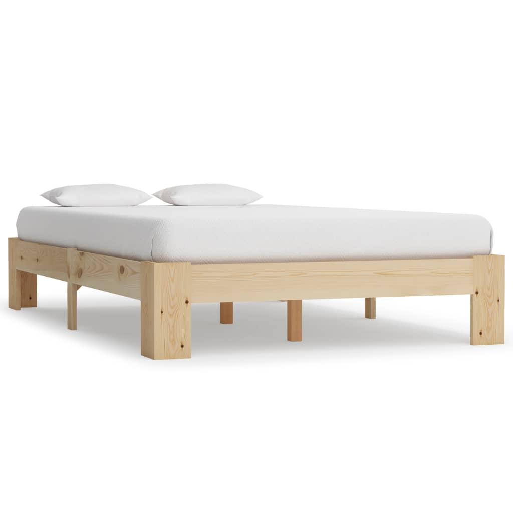vidaXL Cadru de pat, 120 x 200 cm, lemn masiv de pin vidaxl.ro