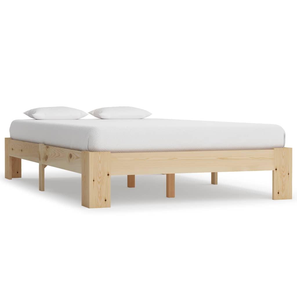 vidaXL Cadru de pat, 140 x 200 cm, lemn masiv de pin vidaxl.ro