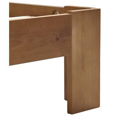 vidaXL Cadru de pat, maro deschis, 100 x 200 cm, lemn masiv de pin[5/6]