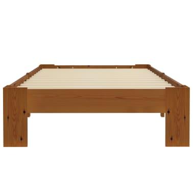 vidaXL Cadru de pat, maro deschis, 100 x 200 cm, lemn masiv de pin[3/6]