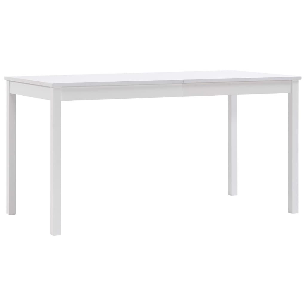 vidaXL fehér fenyõfa étkezõasztal 140 x 70 x 73 cm
