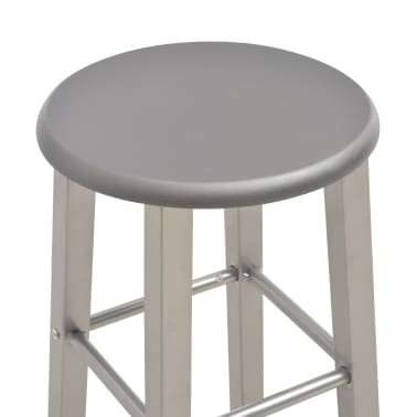 vidaXL barstole 2 stk. MDF antracitgrå[4/6]