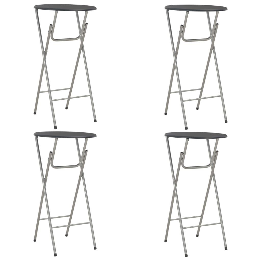 vidaXL Barové stoly 4 ks černé 60 x 112 cm MDF
